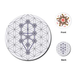 Tree Of Life Flower Of Life Stage Playing Cards (Round)
