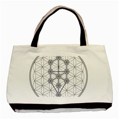 Tree Of Life Flower Of Life Stage Basic Tote Bag
