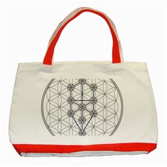 Tree Of Life Flower Of Life Stage Classic Tote Bag (Red)