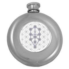 Tree Of Life Flower Of Life Stage Round Hip Flask (5 oz)