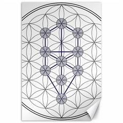 Tree Of Life Flower Of Life Stage Canvas 24  x 36