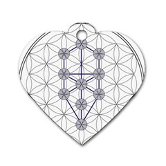 Tree Of Life Flower Of Life Stage Dog Tag Heart (Two Sides)
