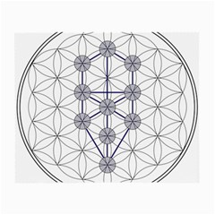 Tree Of Life Flower Of Life Stage Small Glasses Cloth (2-Side)