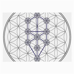 Tree Of Life Flower Of Life Stage Large Glasses Cloth (2-Side)