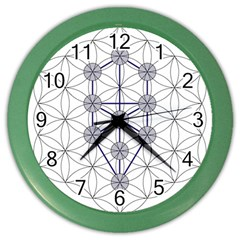 Tree Of Life Flower Of Life Stage Color Wall Clocks