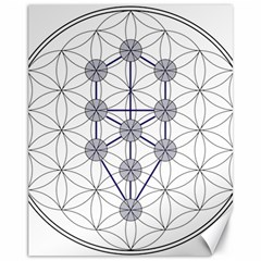 Tree Of Life Flower Of Life Stage Canvas 11  x 14