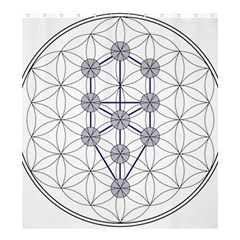 Tree Of Life Flower Of Life Stage Shower Curtain 66  x 72  (Large)