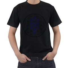 Tree Of Life Flower Of Life Stage Men s T-Shirt (Black)