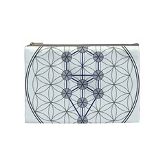 Tree Of Life Flower Of Life Stage Cosmetic Bag (Medium)