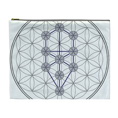Tree Of Life Flower Of Life Stage Cosmetic Bag (XL)