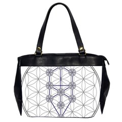 Tree Of Life Flower Of Life Stage Office Handbags (2 Sides)