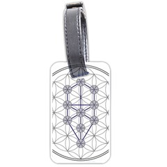 Tree Of Life Flower Of Life Stage Luggage Tags (One Side)