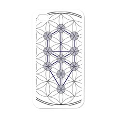 Tree Of Life Flower Of Life Stage Apple iPhone 4 Case (White)