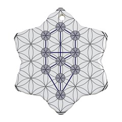 Tree Of Life Flower Of Life Stage Snowflake Ornament (2-Side)