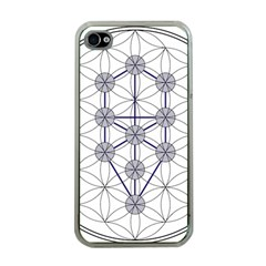 Tree Of Life Flower Of Life Stage Apple iPhone 4 Case (Clear)