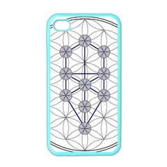 Tree Of Life Flower Of Life Stage Apple iPhone 4 Case (Color)