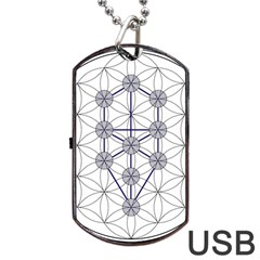 Tree Of Life Flower Of Life Stage Dog Tag USB Flash (One Side)