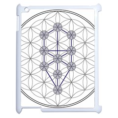 Tree Of Life Flower Of Life Stage Apple iPad 2 Case (White)