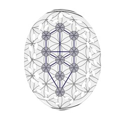 Tree Of Life Flower Of Life Stage Oval Filigree Ornament (2-Side)