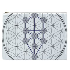 Tree Of Life Flower Of Life Stage Cosmetic Bag (XXL)