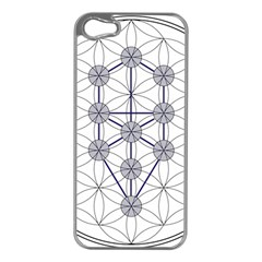 Tree Of Life Flower Of Life Stage Apple iPhone 5 Case (Silver)