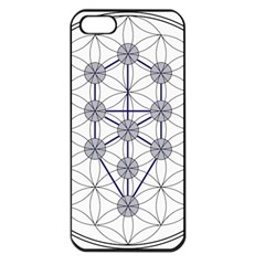 Tree Of Life Flower Of Life Stage Apple iPhone 5 Seamless Case (Black)