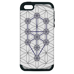 Tree Of Life Flower Of Life Stage Apple iPhone 5 Hardshell Case (PC+Silicone)