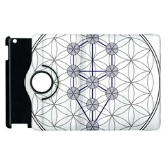 Tree Of Life Flower Of Life Stage Apple iPad 3/4 Flip 360 Case