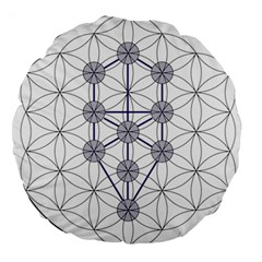 Tree Of Life Flower Of Life Stage Large 18  Premium Round Cushions