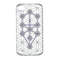 Tree Of Life Flower Of Life Stage Apple iPhone 4/4S Hardshell Case with Stand