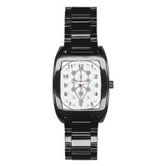 Tree Of Life Flower Of Life Stage Stainless Steel Barrel Watch