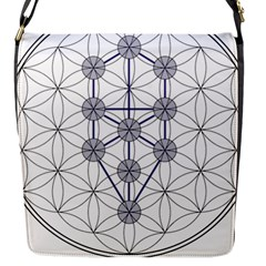 Tree Of Life Flower Of Life Stage Flap Messenger Bag (S)