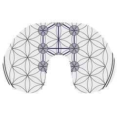 Tree Of Life Flower Of Life Stage Travel Neck Pillows