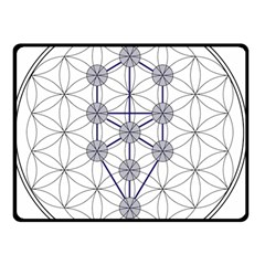Tree Of Life Flower Of Life Stage Double Sided Fleece Blanket (Small)