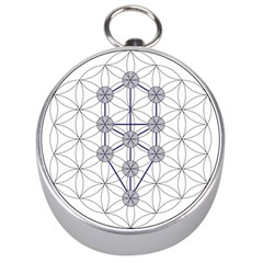 Tree Of Life Flower Of Life Stage Silver Compasses