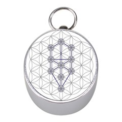 Tree Of Life Flower Of Life Stage Mini Silver Compasses