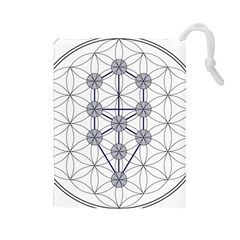 Tree Of Life Flower Of Life Stage Drawstring Pouches (Large)
