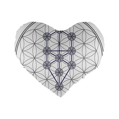 Tree Of Life Flower Of Life Stage Standard 16  Premium Flano Heart Shape Cushions