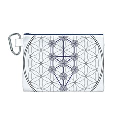 Tree Of Life Flower Of Life Stage Canvas Cosmetic Bag (M)