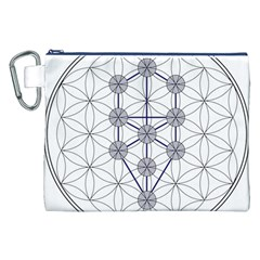 Tree Of Life Flower Of Life Stage Canvas Cosmetic Bag (XXL)