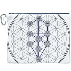 Tree Of Life Flower Of Life Stage Canvas Cosmetic Bag (XXXL)