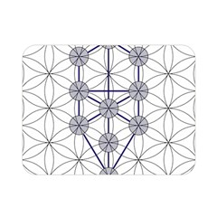 Tree Of Life Flower Of Life Stage Double Sided Flano Blanket (Mini)
