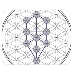 Tree Of Life Flower Of Life Stage Double Sided Flano Blanket (Medium)