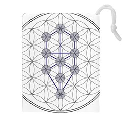 Tree Of Life Flower Of Life Stage Drawstring Pouches (XXL)