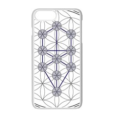 Tree Of Life Flower Of Life Stage Apple iPhone 7 Plus White Seamless Case