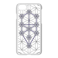 Tree Of Life Flower Of Life Stage Apple iPhone 7 Seamless Case (White)
