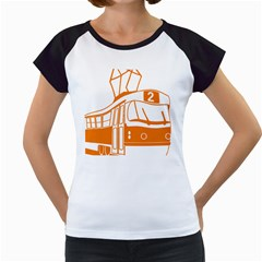 Tramway Transportation Electric Women s Cap Sleeve T