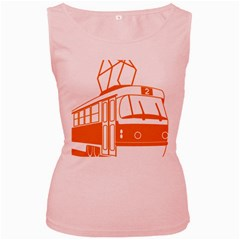 Tramway Transportation Electric Women s Pink Tank Top
