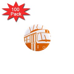 Tramway Transportation Electric 1  Mini Magnets (100 pack)