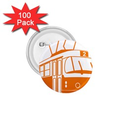 Tramway Transportation Electric 1.75  Buttons (100 pack)